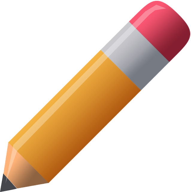Pencil Clipart Pen Orange Red Eraser Graphic