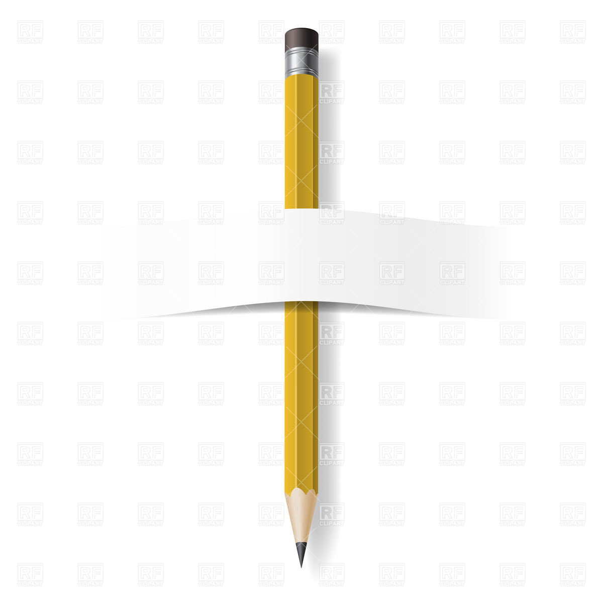 Pencil With Eraser Download Royalty Free Vector Clipart  Eps