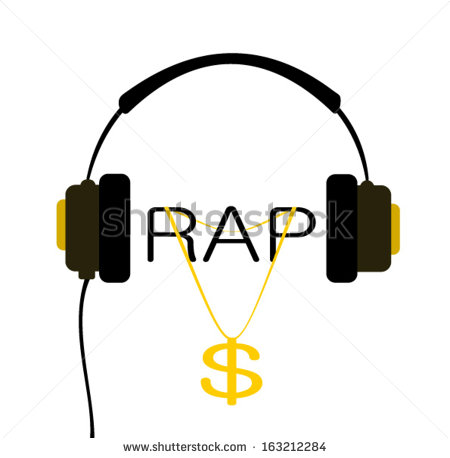 Rapper Chains Clipart Headphones With Rap Music And