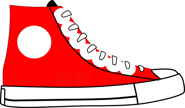 Clip Art Tennis Shoe Clip Art red tennis shoes clipart kid shoe clip art