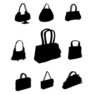 Related Bags Shape Cliparts