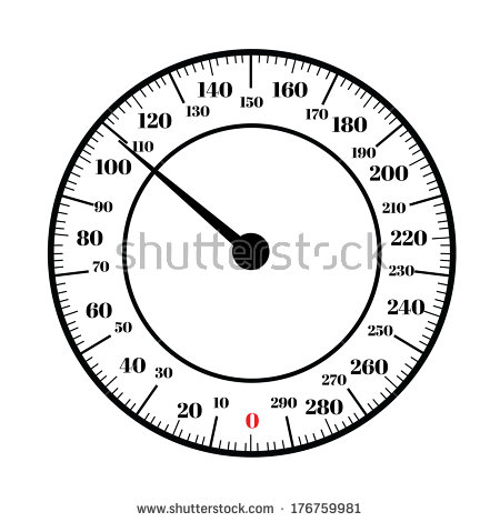 Round Analog Dial Interface Of Scale Vector Editable Format   Stock