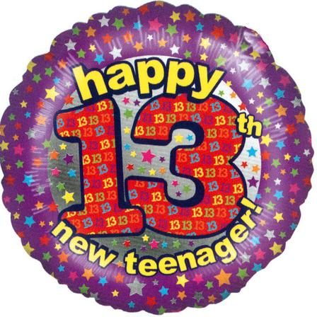 Teenager Birthday Balloon 13th Birthday Balloon In A Box A Bight Foil
