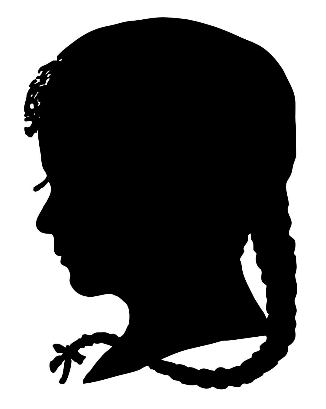Vintage Clip Art   Silhouette Boy   Girl   The Graphics Fairy