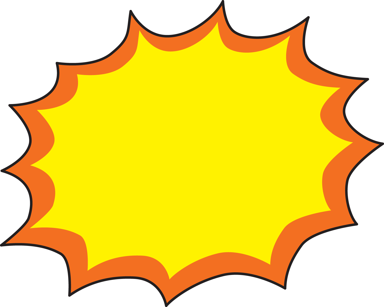 Explosion Clipart - Clipart Kid