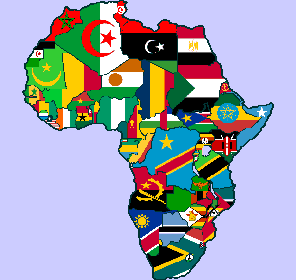 Africa Flag Map Clipart
