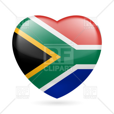 Africa  Heart With Flag Colors Download Royalty Free Vector Clipart