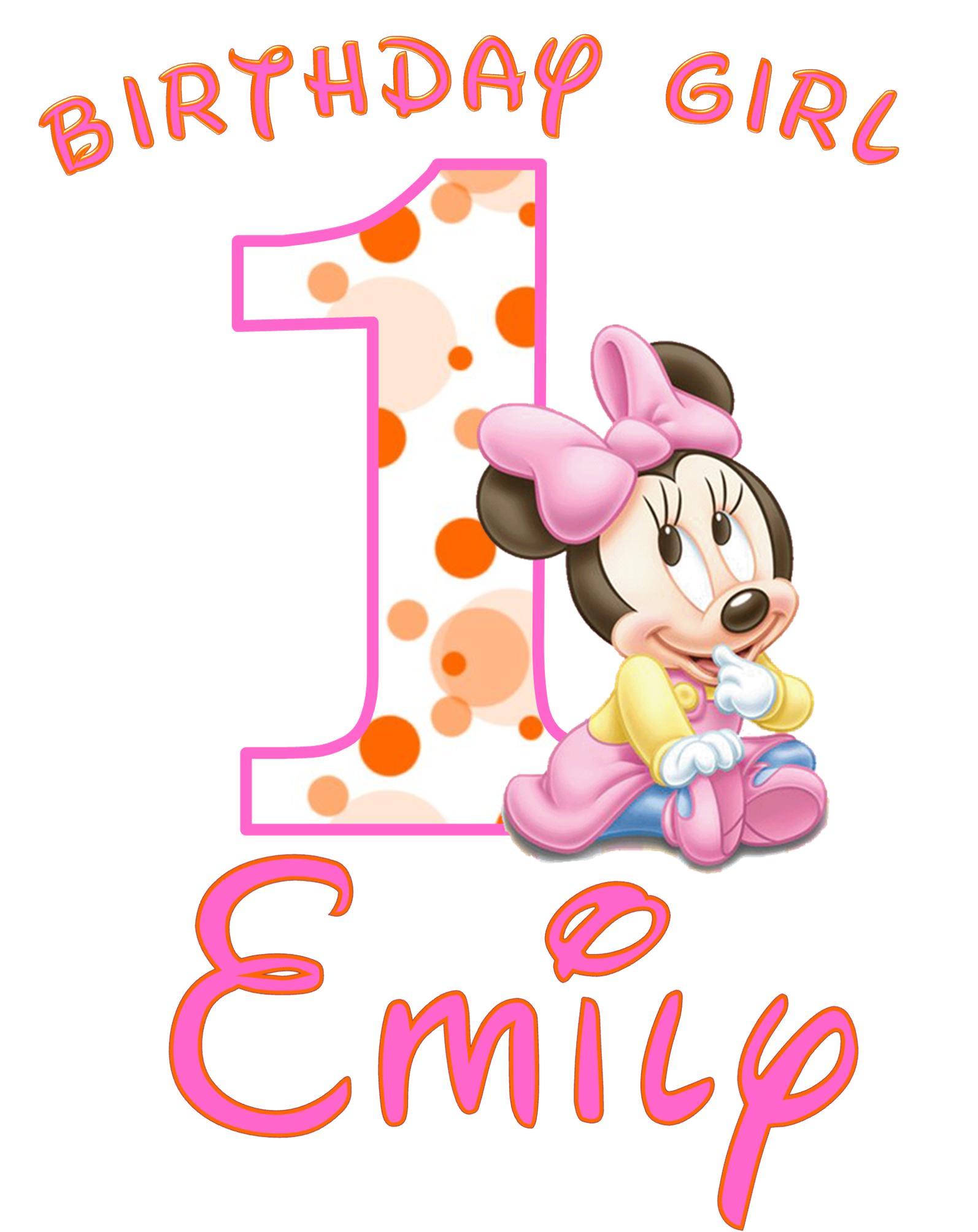 Minnie 1st Birthday Clipart - Clipart Kid