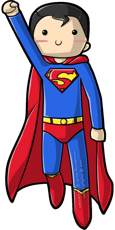 Cute Superman Clipart - Clipart Kid