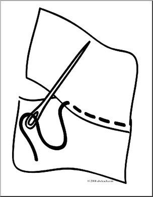 Clip Art  Basic Words  Sew  Coloring Page    Preview 1