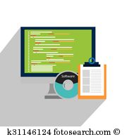 Computer Software Clipart En Illustraties
