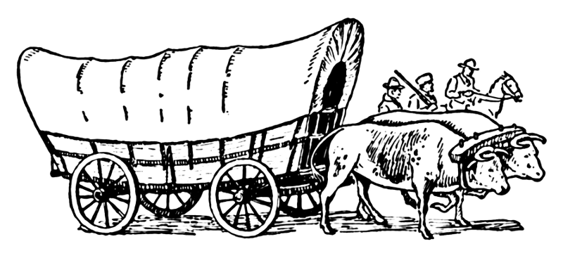 Covered Wagon    World History Old Vehicles Covered Wagon Png Html