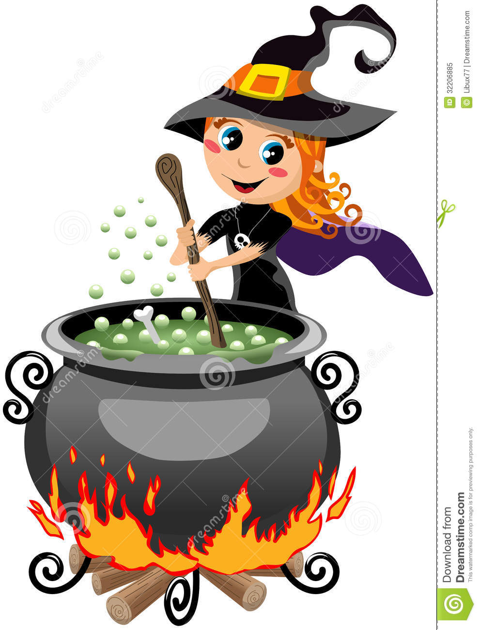 Cute Witch Clip Art   Viewing