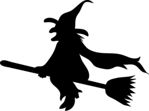 Cute Witch Clipart Halloween Wicked Witch On Her Broomstick Silhouette