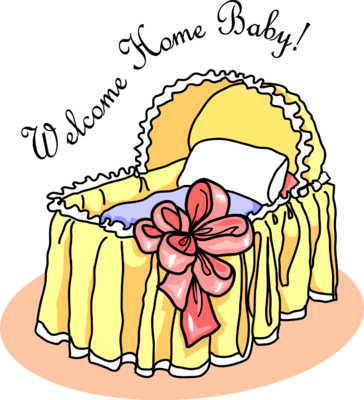 Image  Welcome Home Bassinet   Baby Clip Art   Christart Com