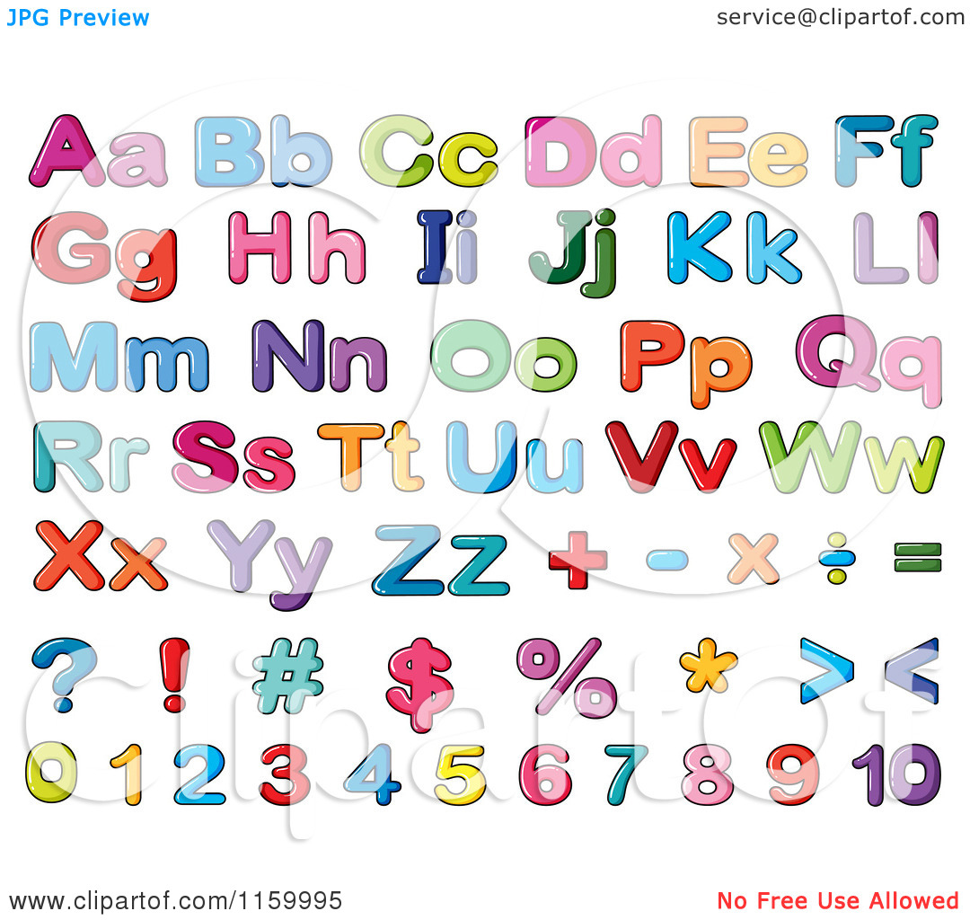 free clipart letters and numbers - photo #7