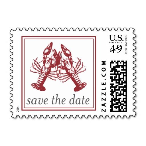 Lobster Love Save The Date Stamp Lobster Love Save The Date Stamp