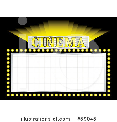Movie Sign Clipart  59045 By Michaeltravers   Royalty Free  Rf  Stock