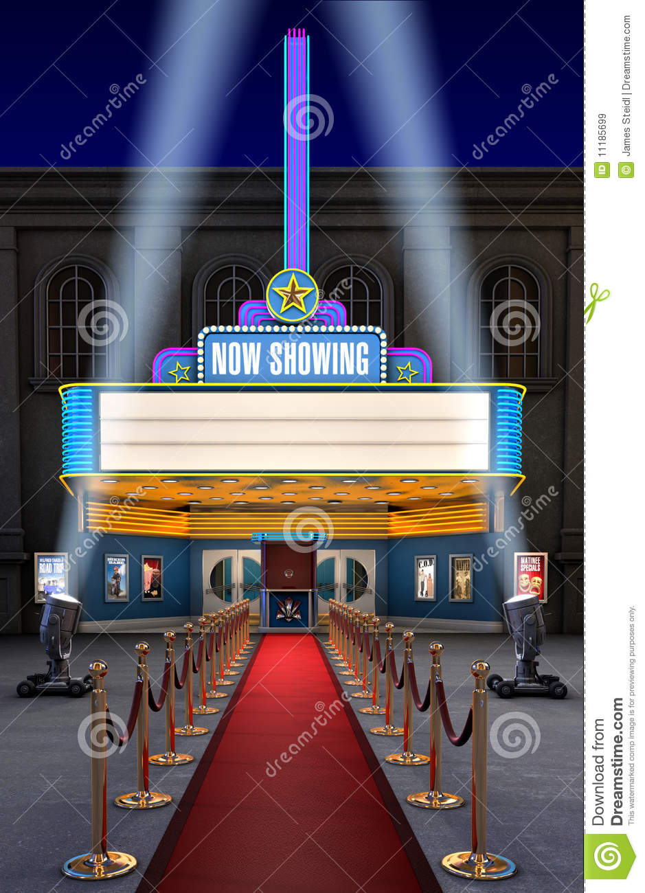 Movie Theatre   Ticket Box Royalty Free Stock Images   Image  11185699