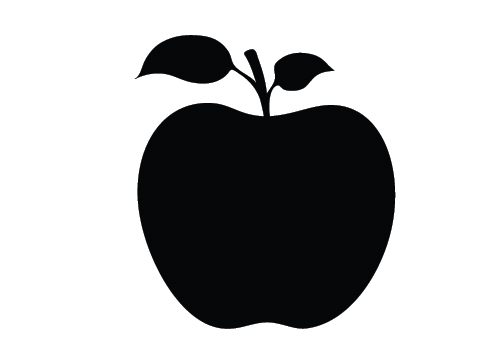 Apple Silhouette Clipart - Clipart Kid