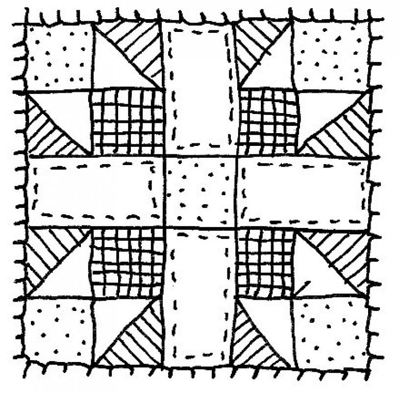 Drawing Lines For Quilting : Quilt clipart suggest