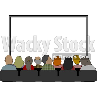 Sitting In Their Seats At The Movie Theatre Clipart   Djart  4229