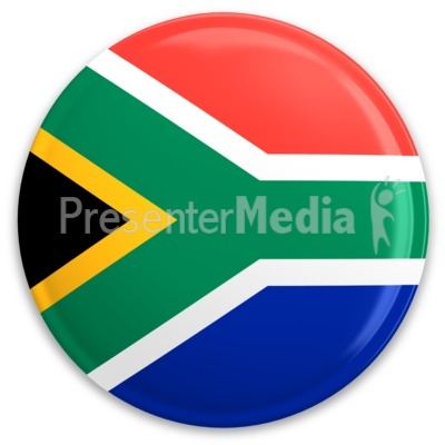 South Africa Flag Button   Signs And Symbols   Great Clipart For