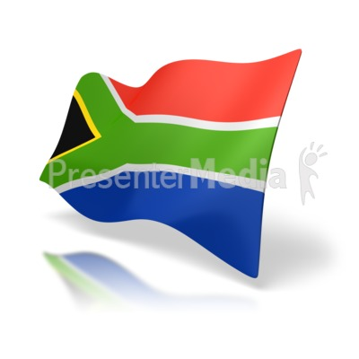 South Africa Flag Perspective   Signs And Symbols   Great Clipart For