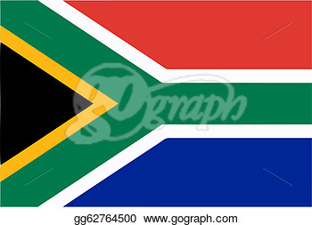 Stock Illustration   South Africa Flag  Clipart Drawing Gg62764500