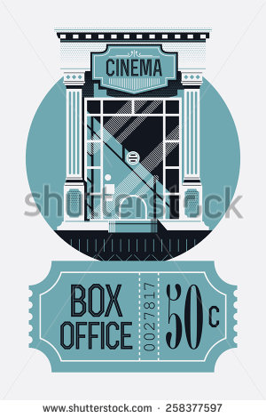 Template On Film Box Office Report With Retro Style Cinema Movie