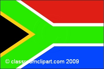 World Flags   South Africa  Flag   Classroom Clipart