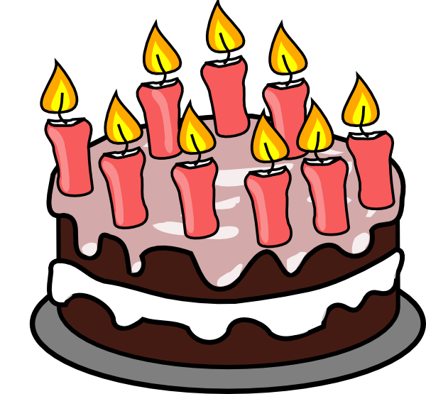 Yellow Cake Clip Art : 3 Birthday Cake Candles Clipart - Clipart Suggest