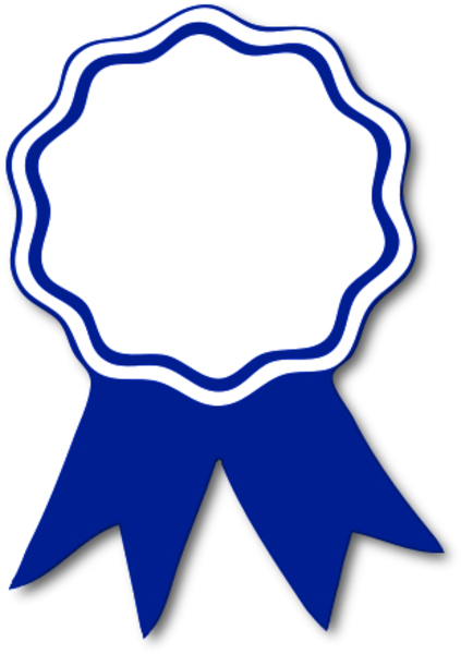 Award Ribbon Blue T   Free Images At Clker Com   Vector Clip Art