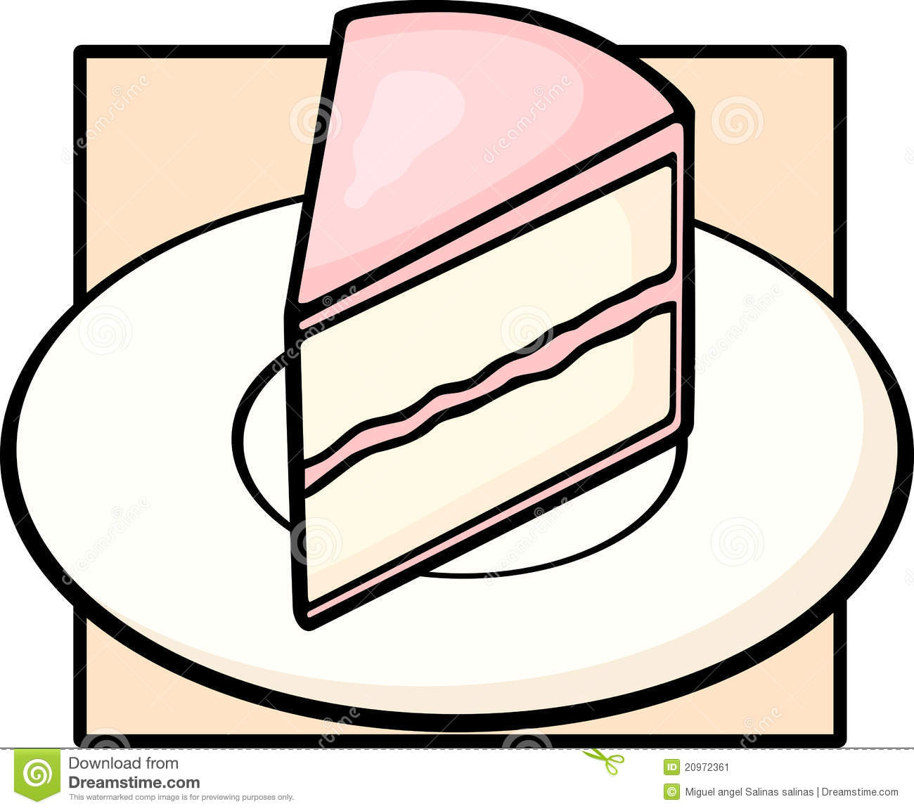Birthday Cake Slice Clip Art Cake Slice Dish 20972361 Jpg