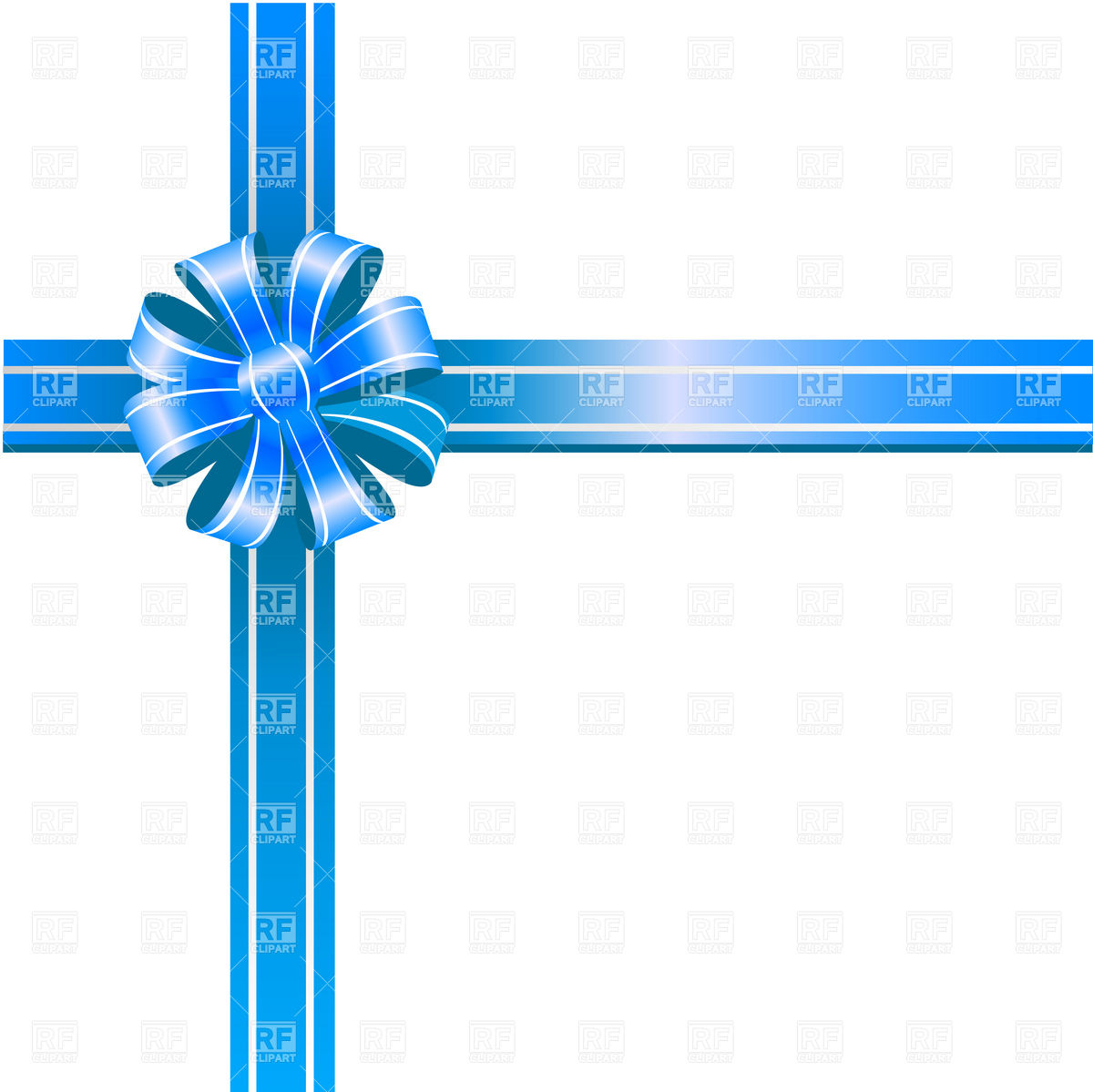 Blue Ribbon Bow On White Background 20074 Objects Download