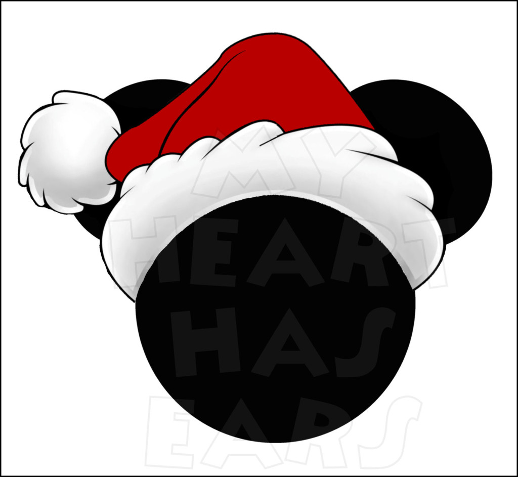 Mickey Santa Hat Clipart - Clipart Kid