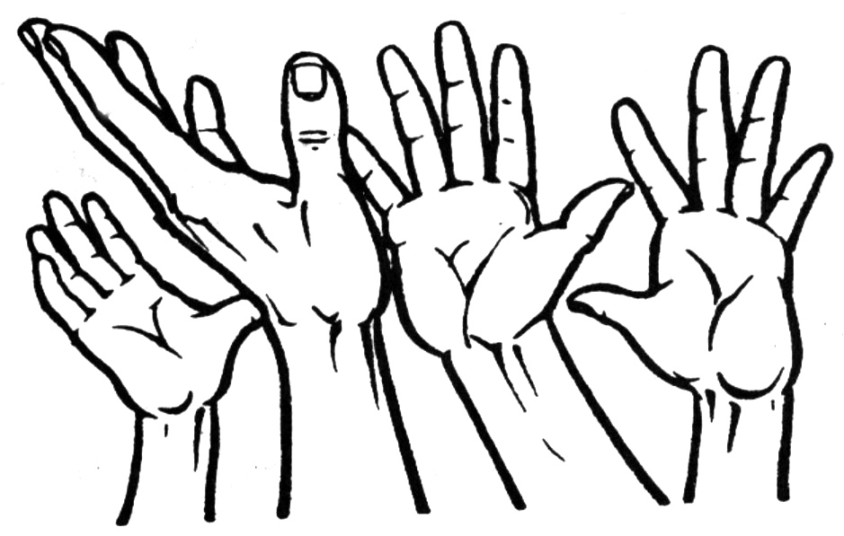 Open Hands Clipart - Clipart Kid
