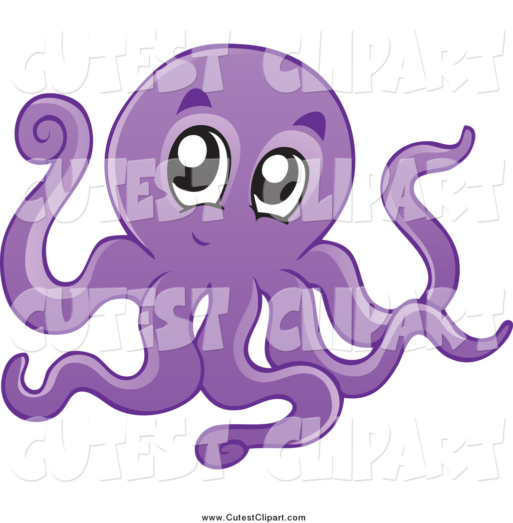 Cute Purple Octopus Clipart This Octopus Stock Cute Image