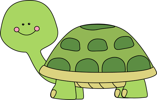 Cute Turtle Clip Art Image   Cute Green Turtle With Pink Rosy Cheek