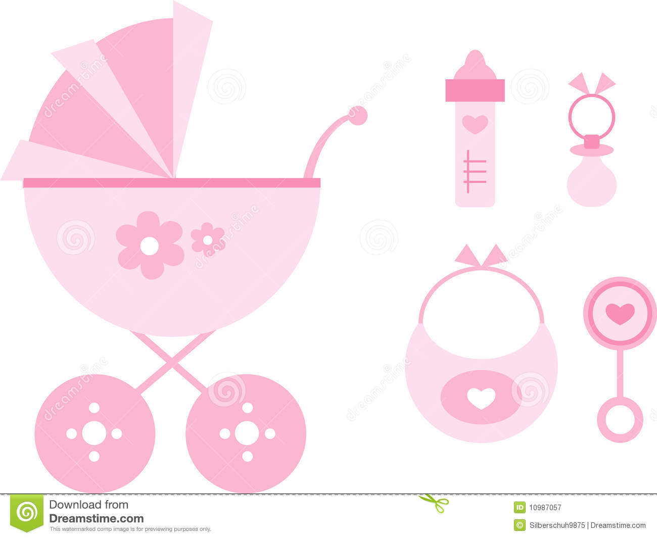 Baby Girl Items Clipart - Clipart Kid
