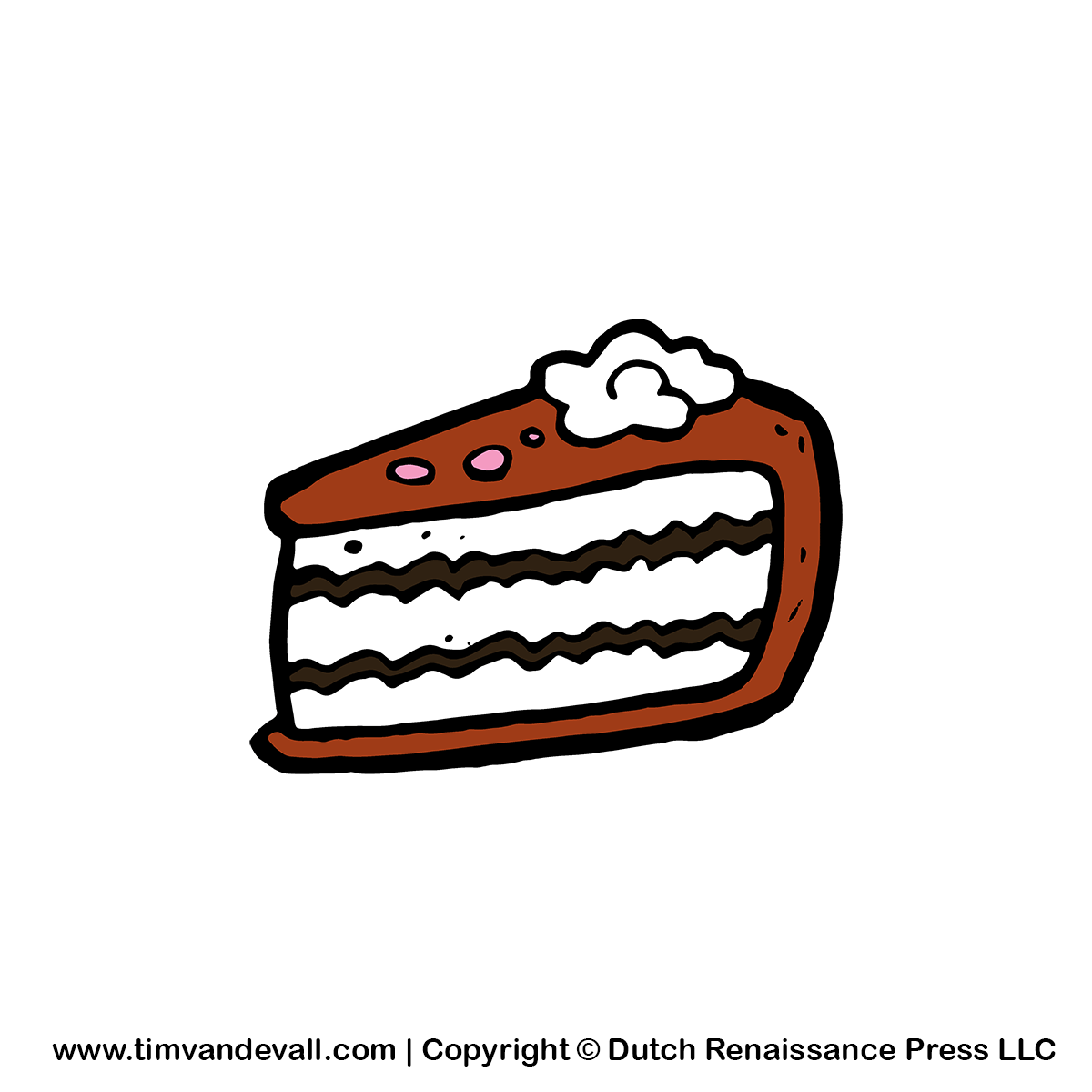 Free Cake Slice Clipart Cartoon Image For Birthday Parties And Events