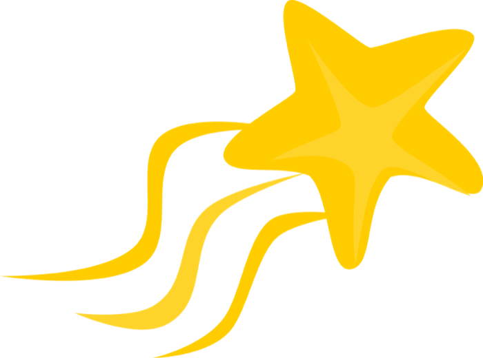 Gold Star Clipart Shooting Star Png