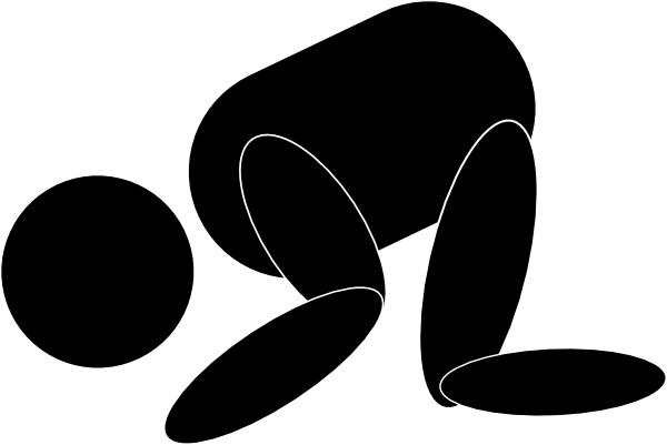 Man Kneeling Praying Clip Art At Clker Com   Vector Clip Art Online