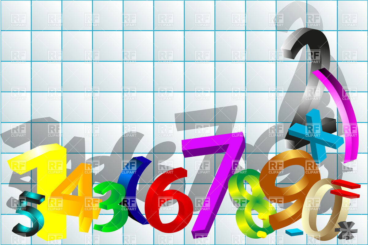 Mathematics Abstract Background With Numbers And Signs 25462 Icons