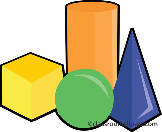 Mathematics   Cylinder Square Shapes   Classroom Clipart