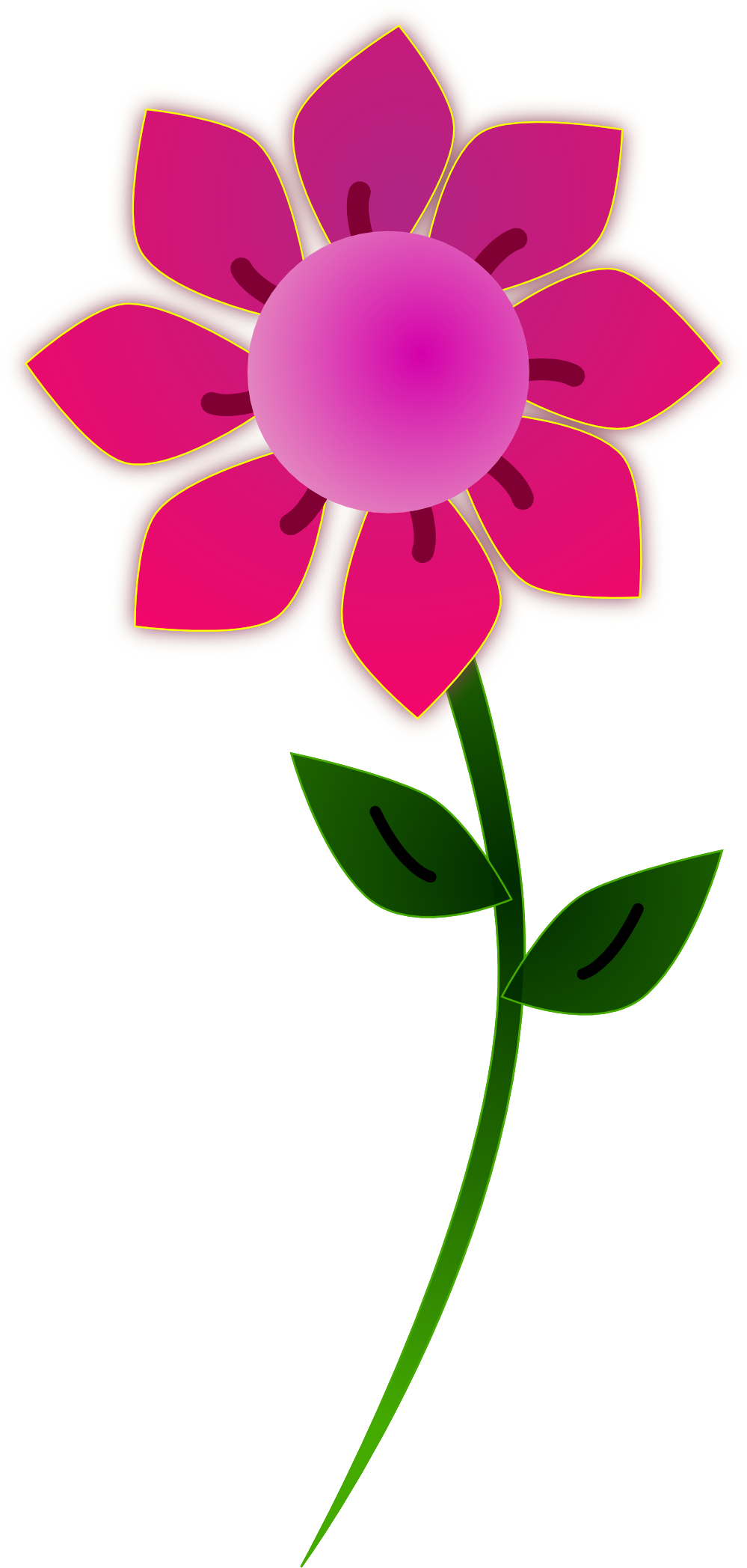 Pink Flowers Clipart Clipart Best