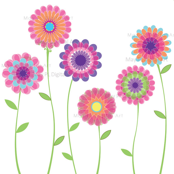 Cute Flowers Graphics Clipart - Clipart Kid