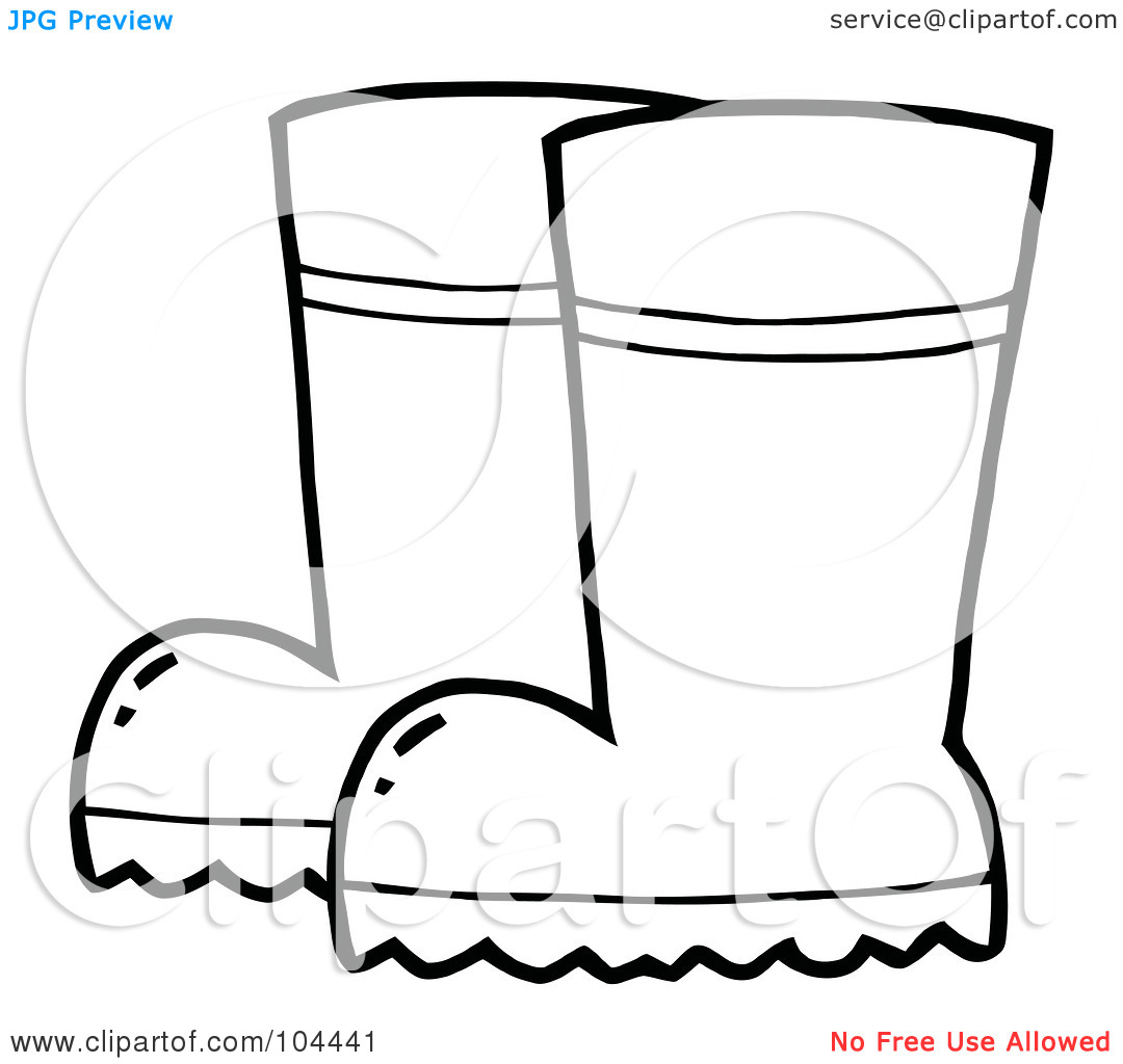 Rain Boots Clipart Black And White   Clipart Panda   Free Clipart