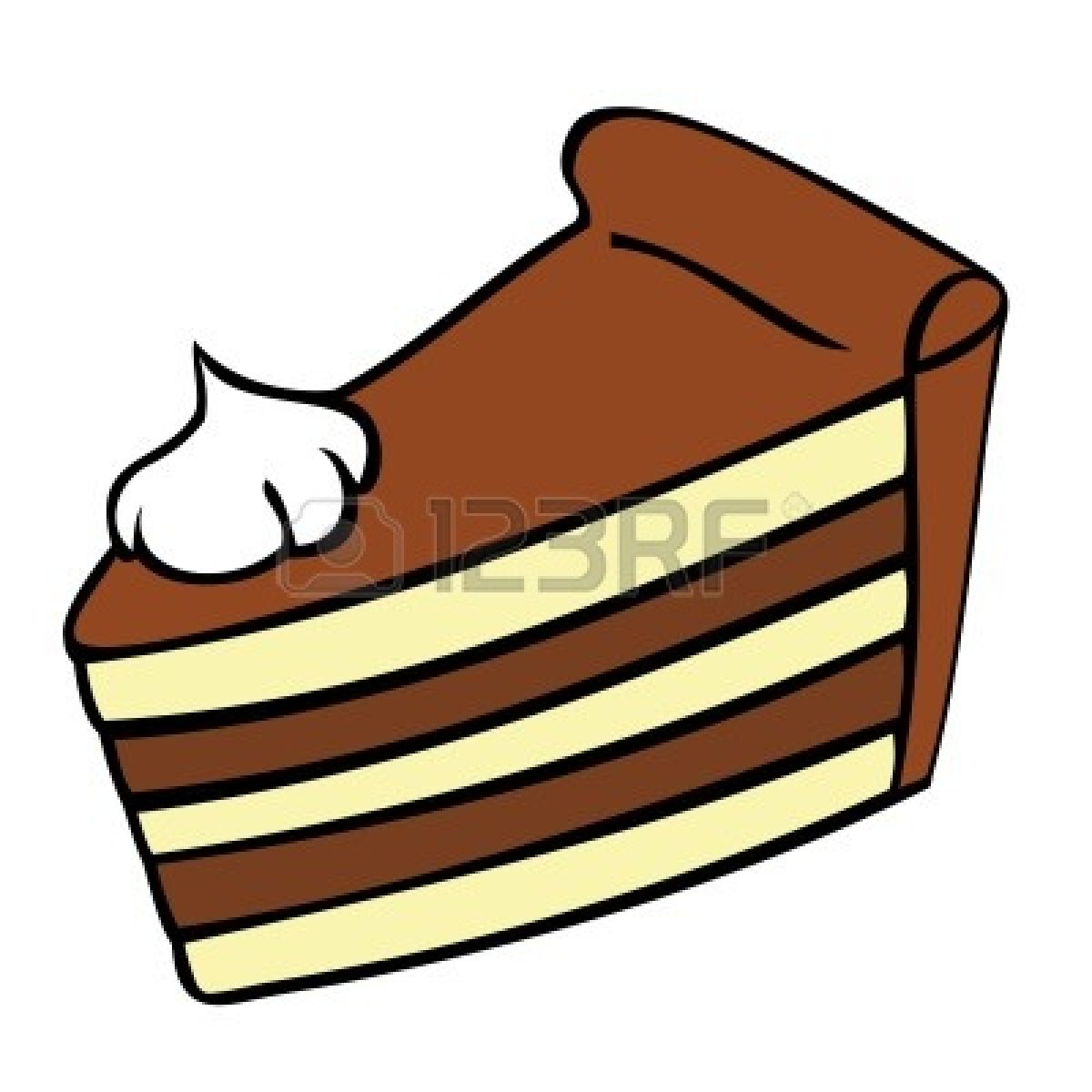 Slice Of Cake Clipart Black And White   Clipart Panda   Free Clipart
