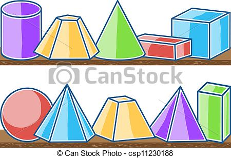 Vector   Seamless Pattern Mathematics Solids   Stock Illustration